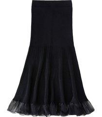 ribbed maxi skirt