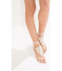 tornozeleira crochê par off white