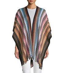 multicolored-print cotton cape