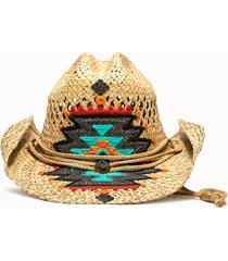 sparti cappello western geometria messicana multicolor