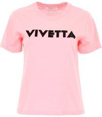 vivetta t-shirt with logo print