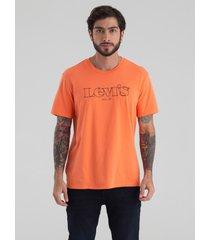 camiseta naranja-negro levi's