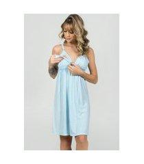 camisola amamentação feminina com robe serra e mar modas azul claro