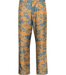asceno tie-dye print cropped trousers - brown