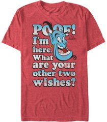 disney men's aladdin poof what are your wishes short sleeve t-shirt