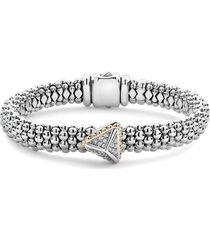 women's lagos diamond pyramid bracelet