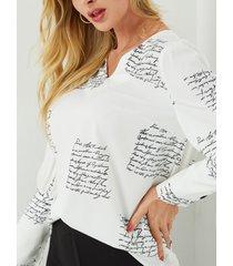 yoins botón blanco diseño blusa con cuello de pico y manga blusa