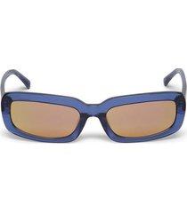 narrow sunglasses navy and orange