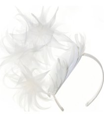 josette feathered arch fascinator