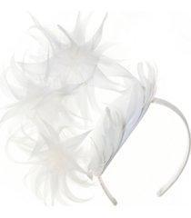 josette feathered arch fascinator