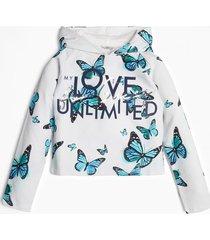 bluza w print w kształcie motyli
