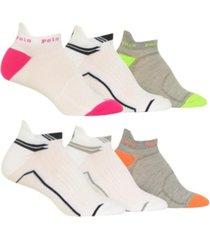polo ralph lauren women's tab 6pk low cut socks