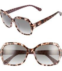 women's kate spade new york amberlynn 57mm sunglasses - havana/ pink