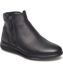 aquet shoes boots ankle boots ankle boots flat heel svart ecco