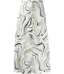 chinti and parker all-over print skirt - neutrals