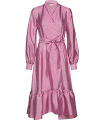 niki, 784 textured poly jurk knielengte roze stine goya