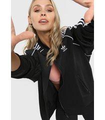 campera negra adidas tracktop