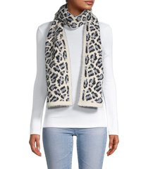 marcus adler women's layla leopard-print scarf - ivory multicolor