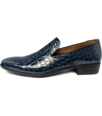 zapatos loafer charol para hombre alligator outfit azul