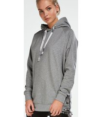 hunkemöller hkmx sweatshirt lace-up grå