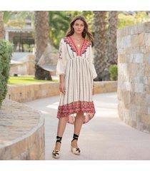 sundance catalog women's amrita story dress in ivory i 2xl
