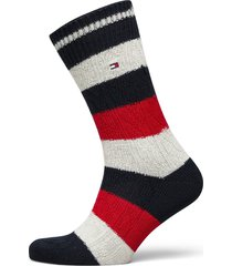 th men sock 1p cable rugby underwear socks regular socks multi/mönstrad tommy hilfiger
