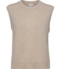 o-neck vest vests knitted vests beige davida cashmere