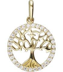 ciondolo albero della vita in oro giallo e zirconi per donna