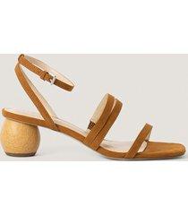 na-kd shoes lågklackade sandaler - brown