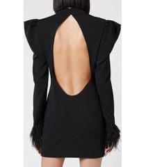 de la vali women's baltimore dress - black - uk 12