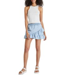 french connection aves chambray mini skirt