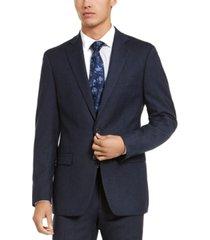 calvin klein men's x-fit slim-fit stripe flannel suit jacket