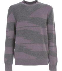 z zegna inlay round neck sweater