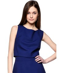 bluzka elegancka kobaltowa