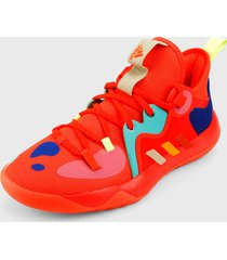 tenis basketball naranja-multicolor adidas performance haarden stepback