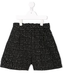 familiar tweed shorts - black