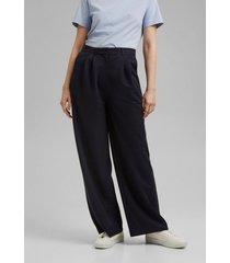 pantalón con lino azul marino esprit