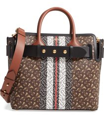 burberry small e-canvas belted tote -