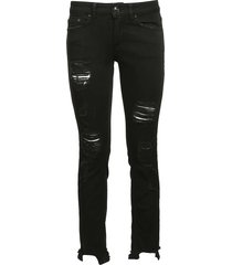 dondup cropped distressed skinny jeans