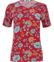 camiseta flores estampadas color vino, talla 8