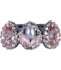 anel armazem rr bijouxmini gotas rose com pérola feminino - feminino