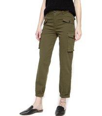 jeans cargo verde oscuro five