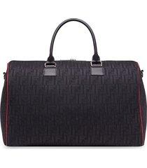 fendi embossed logo travel bag - black