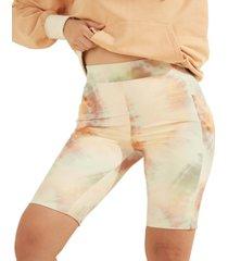 guess sohara tie-dye biker shorts