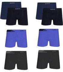 kit 8 cuecas boxer lupo microfibra sem costura masculina