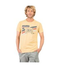 t-shirt estampada world tour amarelo escuro amr es/p