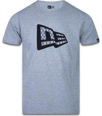 camiseta manga curta trick me wire branco new era - masculino
