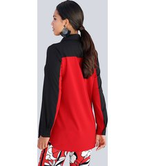 blus amy vermont svart::röd