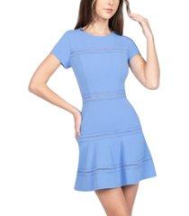 b darlin juniors' lace-trim fit & flare dress