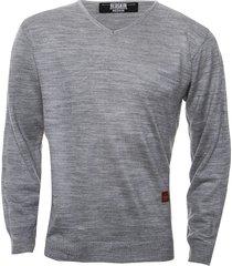 sweater gris redskin escote v